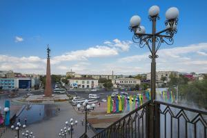 Entrance of the Independence Park, Shymkent, South Region, Kazakhstan, Central Asia, Asia by G&M Therin-Weise