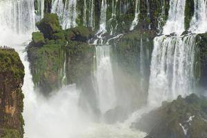 Iguazu Falls from Argentinian side, UNESCO World Heritage Site, on border of Argentina and Brazil,  by G&M Therin-Weise
