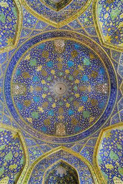 Iwan, Dome, Masjed-e Imam Mosque, Maydam-e Iman square, Esfahan, Iran, Middle East by G&M Therin-Weise