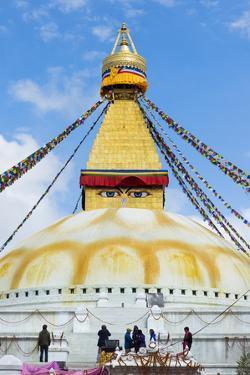 Largest Asian Stupa, Boudhanath Stupa, UNESCO World Heritage Site, Kathmandu, Nepal, Asia by G&M Therin-Weise