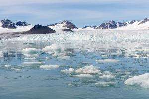 Lilliehook Glacier in Lilliehook Fjord, a Branch of Cross Fjord, Spitsbergen Island by G&M Therin-Weise