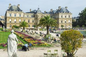 Luxembourg Palace and Gardens, Paris, France, Europe by G & M Therin-Weise