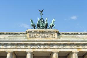 Quadriga on Top of the Brandenburger Tor, Berlin, Brandenburg, Germany, Europe by G & M Therin-Weise