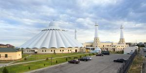 Sheikh Khalifa al Nahyan Mosque, Shymkent, South Region, Kazakhstan, Central Asia, Asia by G&M Therin-Weise