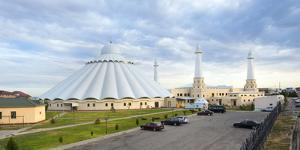 Sheikh Khalifa al Nahyan Mosque, Shymkent, South Region, Kazakhstan, Central Asia, Asia by G&M Therin-Weise