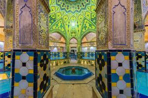 Sultan Amir Ahmad Bathhouse, Kashan, Isfahan Province, Islamic Republic of Iran, Middle East by G&M Therin-Weise