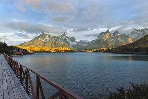 Sunrise over Cuernos Del Paine and Lago Pehoe by G & M Therin-Weise
