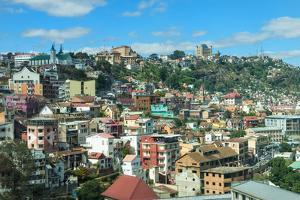 View over a Hillside, Antananarivo, Madagascar, Africa by G&M Therin-Weise