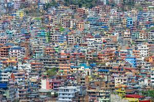 View over Kathmandu, Nepal, Asia by G&M Therin-Weise