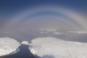 White rainbow over the ice, Arctic Ocean, Arctic, Norway, Scandinavia, Europe by G&M Therin-Weise