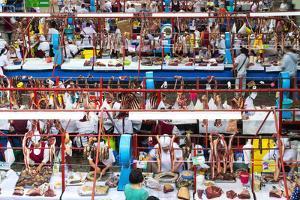 Zelyony Bazar (Green Market), Meat Market, Almaty, Kazakhstan, Central Asia, Asia by G&M Therin-Weise