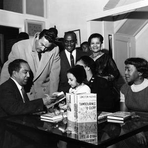 Langston Hughes, Adam C. Powell, Irene Fleming, Jean B. Hudson, Jobe Huntley - 1959 by G. Marshall Wilson