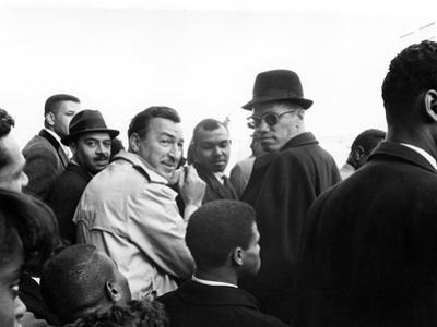 Malcolm X, Adam Clayton Powell by G. Marshall Wilson
