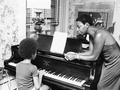 Nina Simone and daughter - 1971 by G. Marshall Wilson