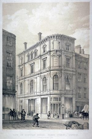 Dunstan House, on the Corner of Fleet Street and Whitefriars Street, City of London, C1842