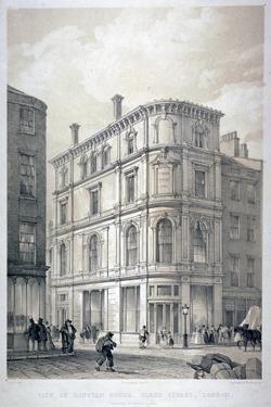 Dunstan House, on the Corner of Fleet Street and Whitefriars Street, City of London, C1842 by G Moore