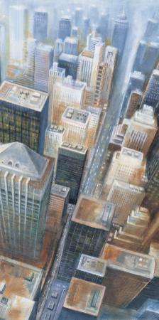 Manhattan from the Clouds II by G.p. Mepas