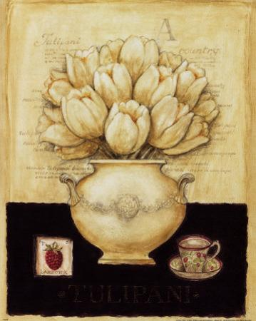 White Tulips and Raspberry by G.p. Mepas