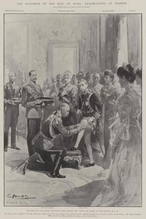 The Accession of the King of Spain, Celebrations at Madrid by G.S. Amato