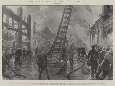 The Great Fire in the City, 21 April