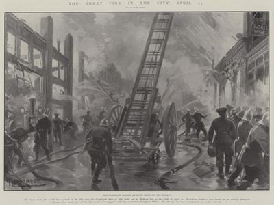 The Great Fire in the City, 21 April by G.S. Amato