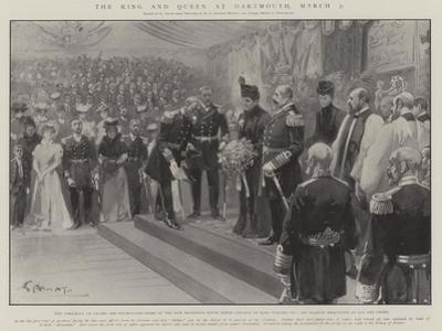 The King and Queen at Dartmouth, 7 March by G.S. Amato