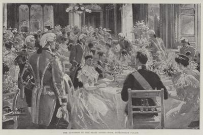 The Luncheon in the State Dining-Room, Buckingham Palace by G.S. Amato