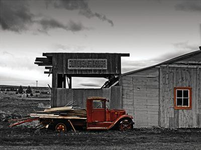 Red Truck at Old Barn