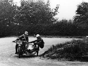 G Tucker Racing a Norton Bike, 1924