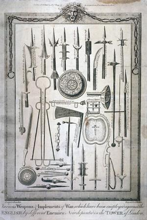 Weapons Kept at the Tower of London, C1800
