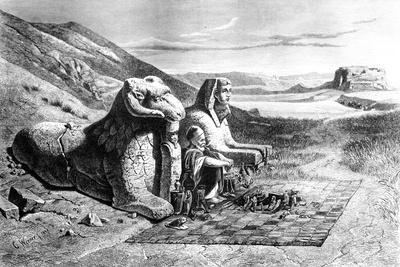 Merchant of Antiquites, Louqsor, Karnack, Egypt, 1871