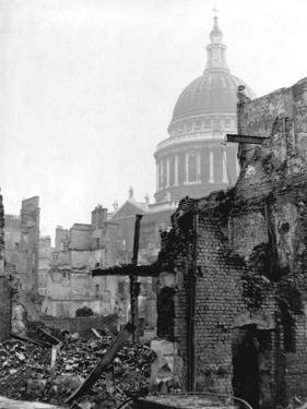 St. Paul's Cathedral and Bombed Buildings by G. Wren Howard