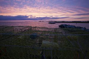 Crab Pots on a Dock in the Chesapeake Bay at Sunset by Gabby Salazar