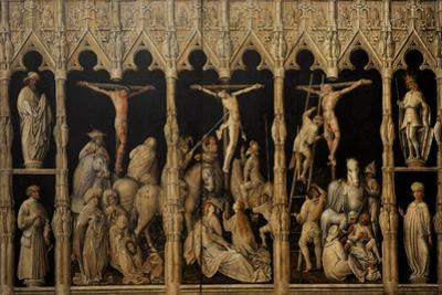 Crucifixion with Saints Coloman, Quirin, Castor and Chrysogonus, Ca. 1440
