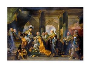 Louis XVI Received at Reims the Homage of the Knights of the Holy Spirit, 13 June 1775 by Gabriel François Doyen