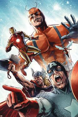 Avengers vs. Atlas No.2 Group: Captain America, Thor, Iron Man, Wasp and Giant Man by Gabriel Hardman