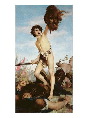 David Victorious over Goliath, 1876