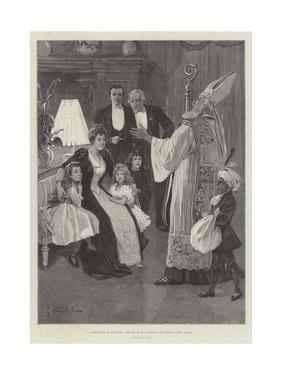 Christmas in Holland, Arrival of St Nicholas, the Dutch Santa Claus by Gabriel Nicolet