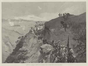 Sketches in Morocco, March of the Sultan's Army Through the Pass of the Mlouia by Gabriel Nicolet