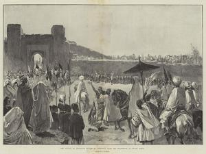 The Sultan of Morocco's Return to Mequinez from His Pilgrimage to Muley Edris by Gabriel Nicolet