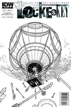 Locke and Key: Guide to the Known Keys - Cover Art by Gabriel Rodriguez