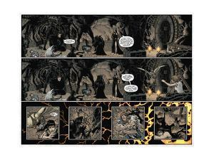 Locke and Key: Volume 5 - Page Spread with Panels by Gabriel Rodriguez