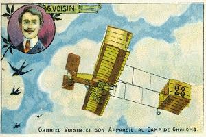 Gabriel Voisin and His Aircraft at the Camp De Chalons, France