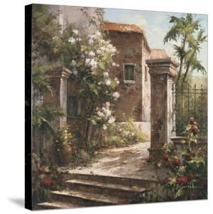 Courtyard With Flowers by Gabriela