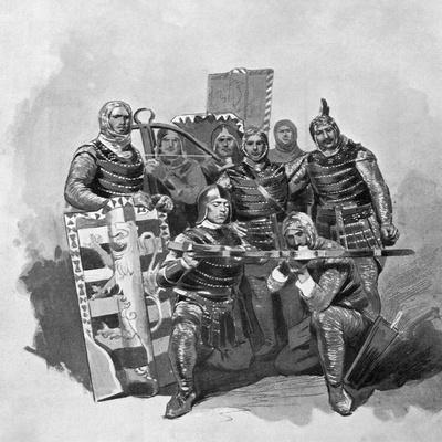 Crossbowmen and Archers from Malatesta, Sketch for Francesca Da Rimini