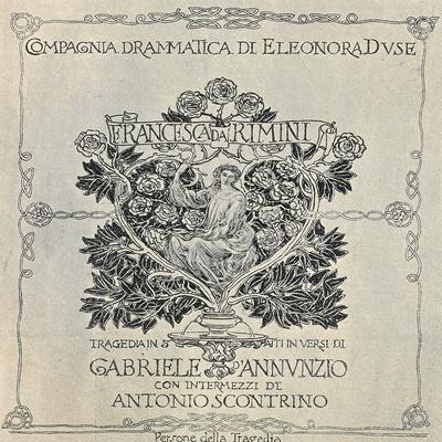 Poster for Francesca Da Rimini, 1902