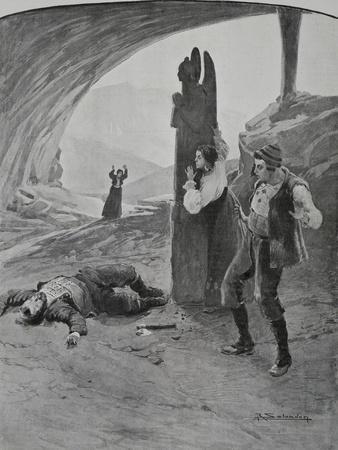 Scene from Act II of Daughter of Jorio