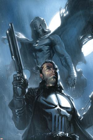 Moon Knight No.26 Cover: Punisher and Moon Knight