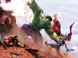 New Avengers Annual No.1: Hulk and Thor Fighting by Gabriele DellOtto