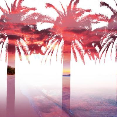 Palms and Sunset in Double Exposure by Gabriele Maltinti